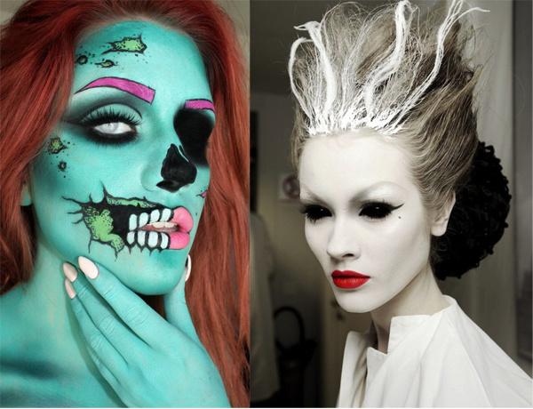 Гипнотический макияж на Halloween