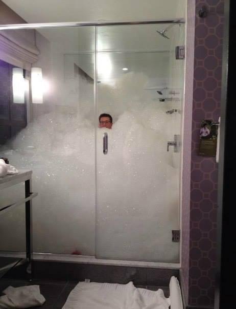 Пенный душ или Психанул...