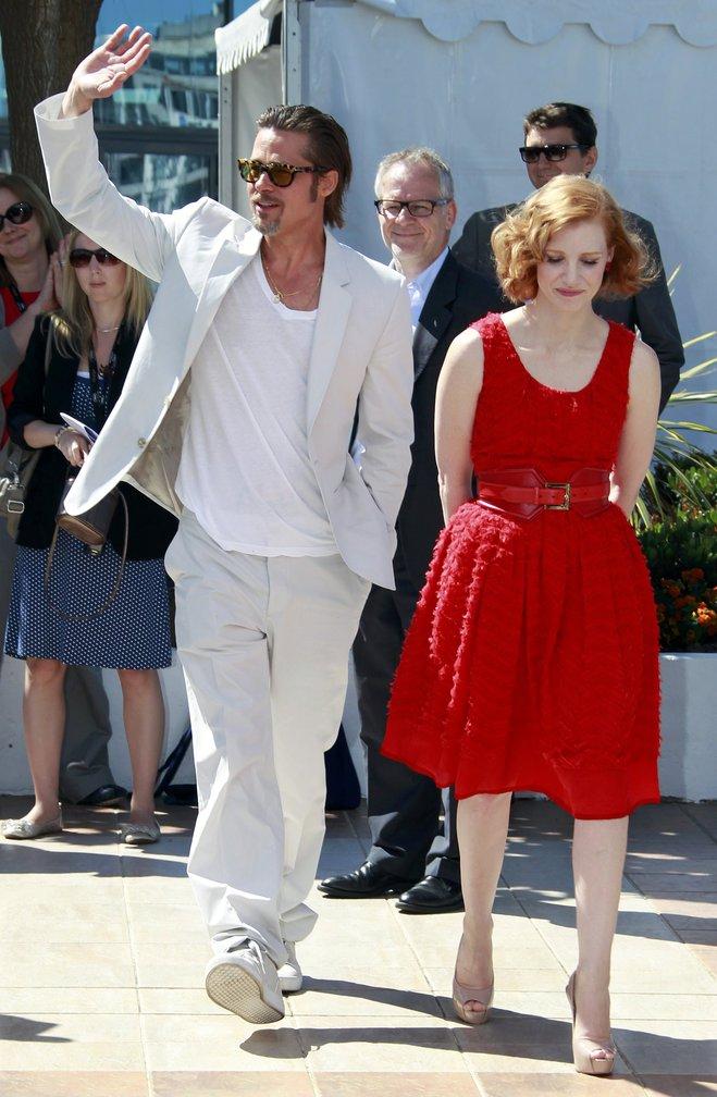 Brad Pitt и Jessica Chastain