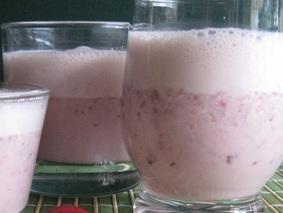 Молочный коктейль с черешней
