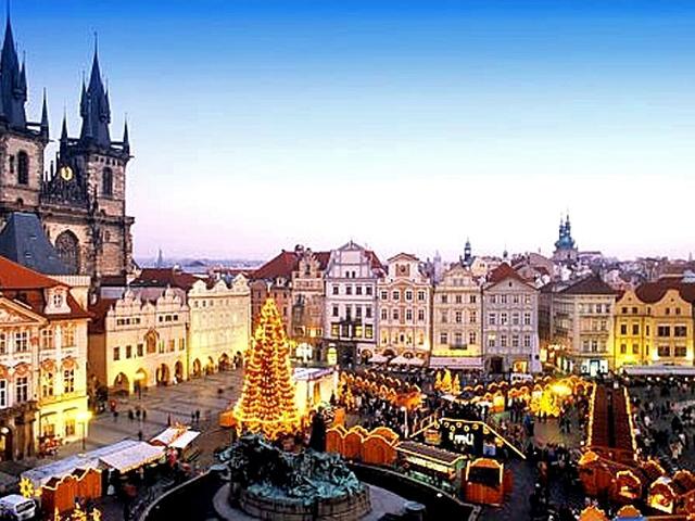 Новый год 2013 в Праге: Староместская площадь на Новый год