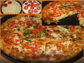Быстрая кабачковая пицца.