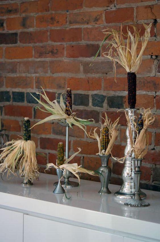 Осенний декор из кукурузы