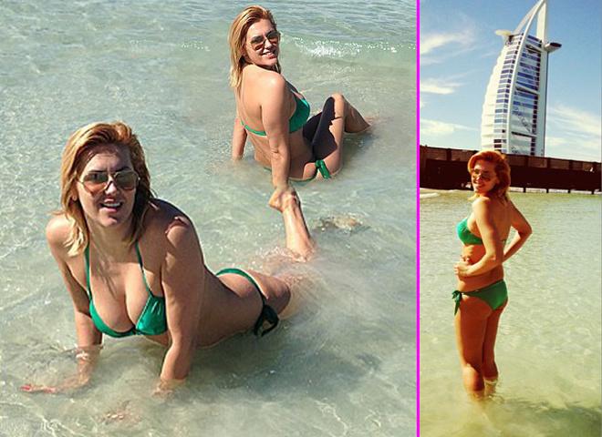 Яна Клочкова оголилась на пляже