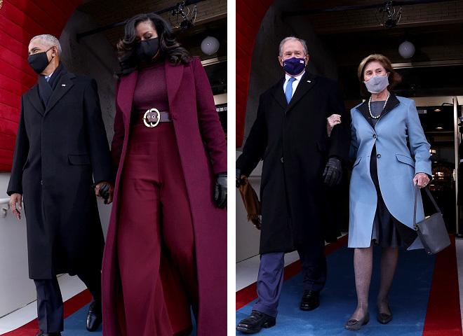 Наряды экс-первых леди США на инаугурации Байдена