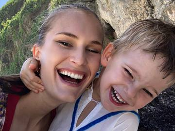 Алла Костромічова з сином