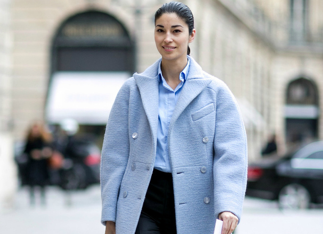 Пальто и шубы в цветах Pantone: street style
