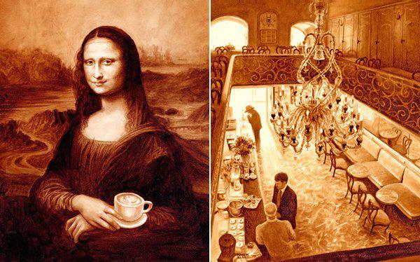 Кофейные картины. Красивая подборка