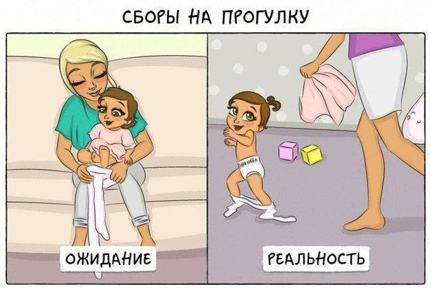 В семье появляется ребенок. Ожидание и реальность