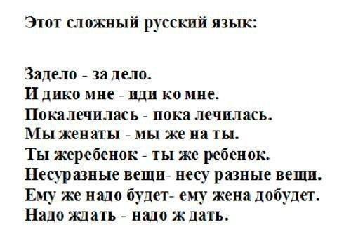Картинка про русский язык