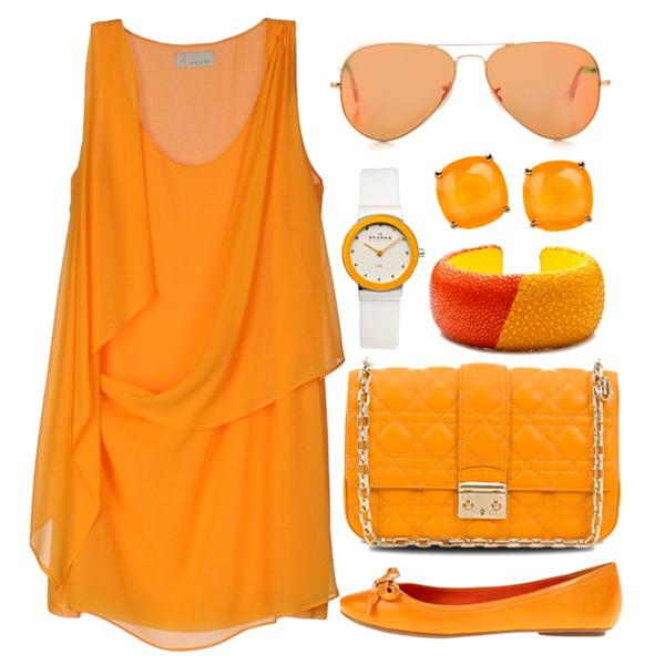 Помаранчевий колір - як і з чим носити
