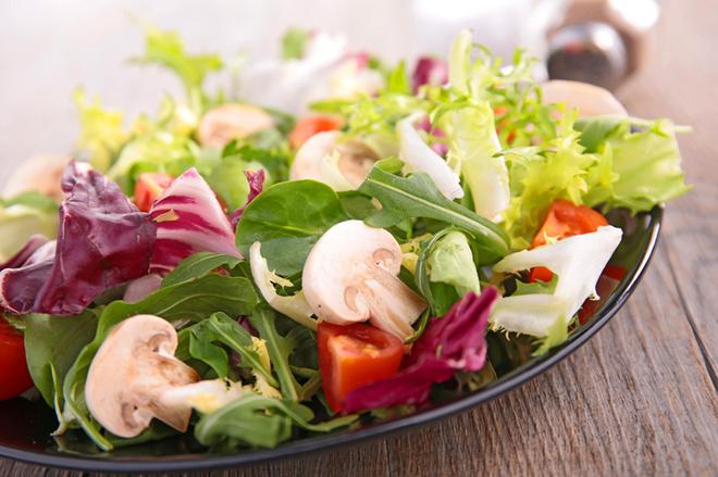 Салат с грибами шампиньонами, cахарное печенье, кускус рецепт
