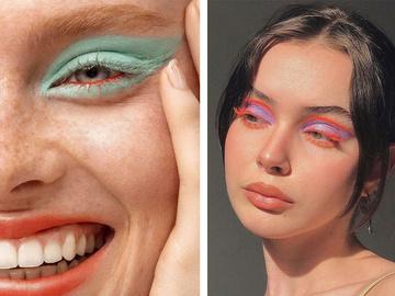 Макияж с цветной тушью: модные идеи