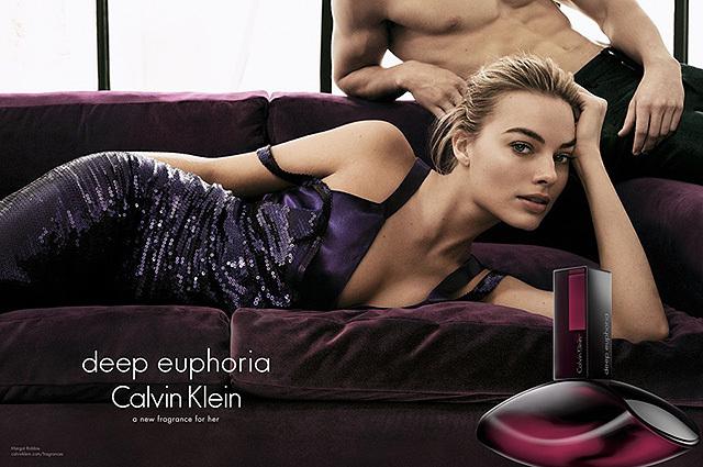 Марго Роббі - особа парфуму Deep Euphoria від Calvin Klein