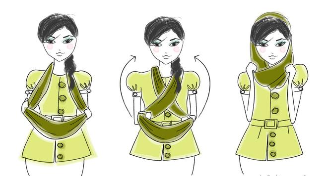 7 способов как надевать шарф-хомут