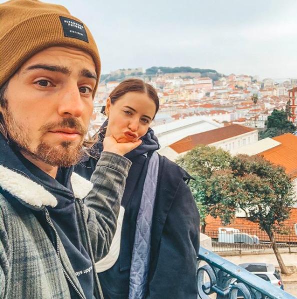 Владимир Дантес и Надя Дорофеева в Лиссабоне