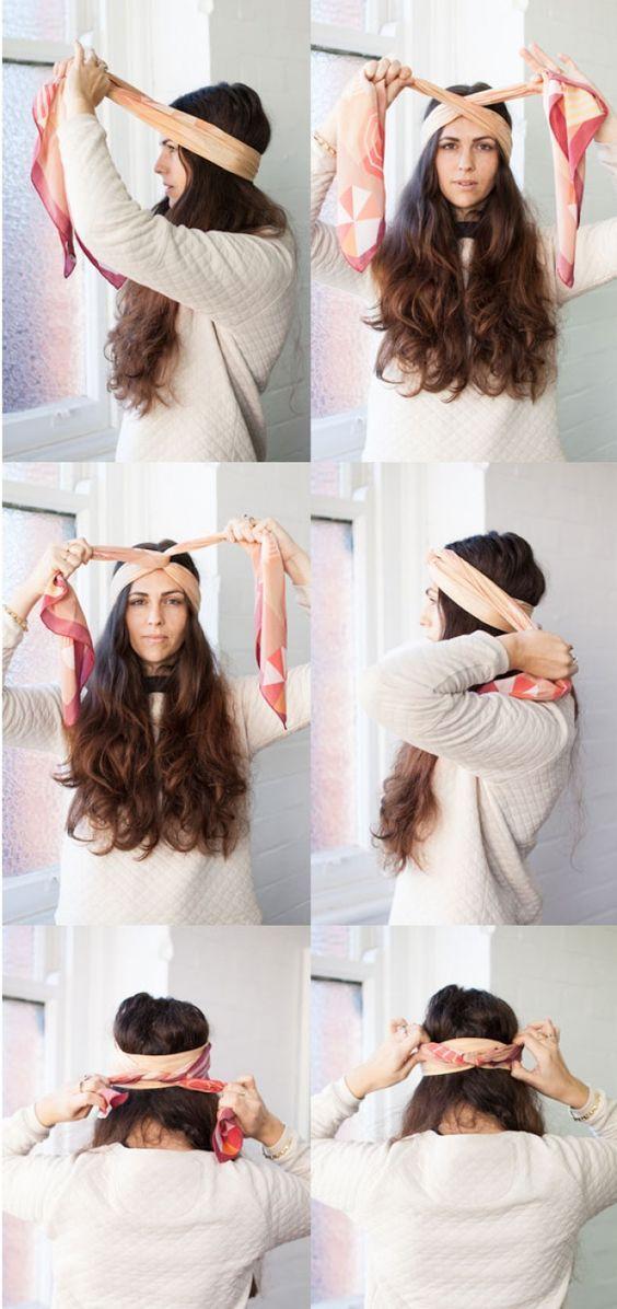 Платок на голове пошагово