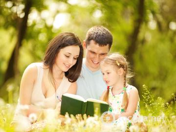 Лето, отпуск, пляж, семья, закат, досуг, дети