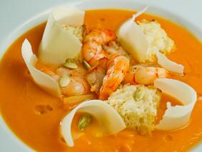 Крем суп из морепродуктов