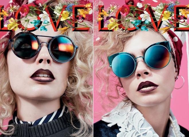 Кара Делевинь и Марго Робби на обложке журнала Love