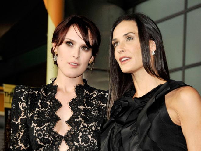 Деми Мур и ее дочь – актриса и модель Румор Уиллис