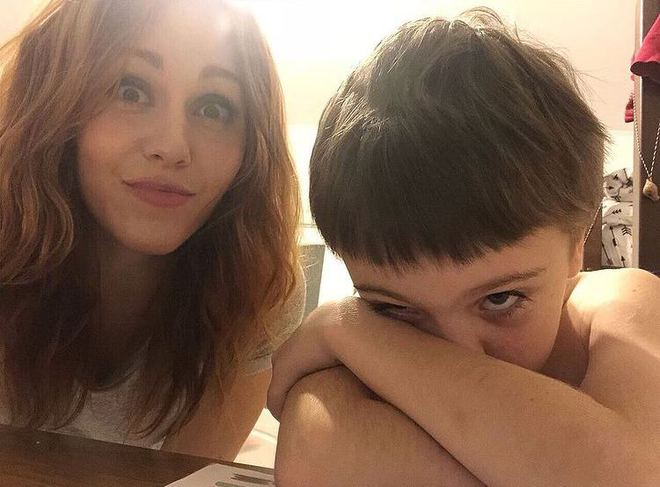 Alyosha с сыном Романом