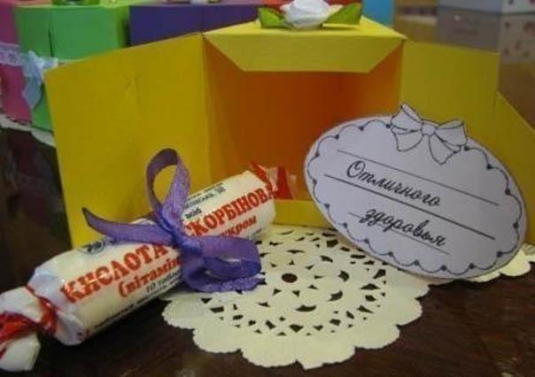 Сделать подарки с пожеланиями