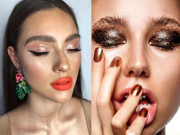 Новорічні тренди в макіяжі: блискучі стрілки і монохромні губи