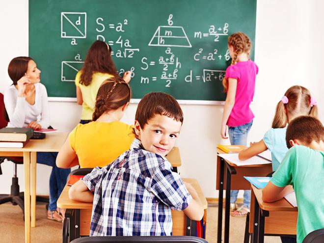 День учителя, учитель, класс, дети, ученики