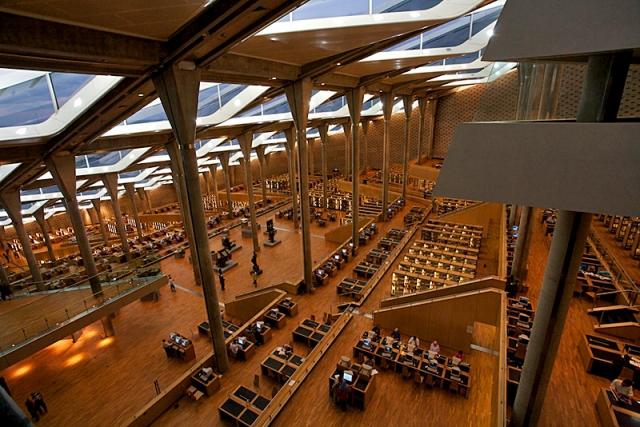 Найкрасивіші бібліотеки: Бібліотека Александріна, Олександрія, Єгипет