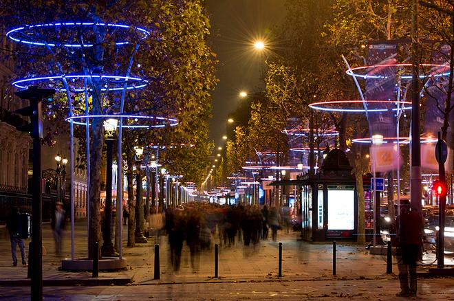 Рождественская иллюминация в городах: Париж