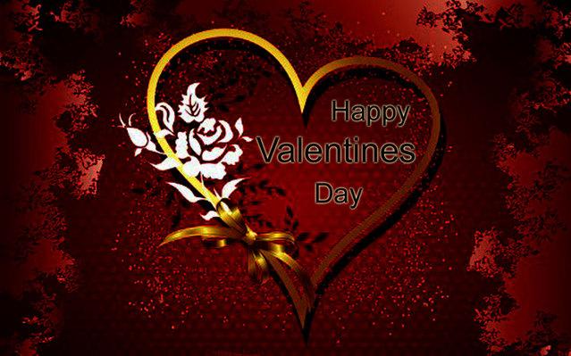 Романтическая открытка на день Св. Валентина