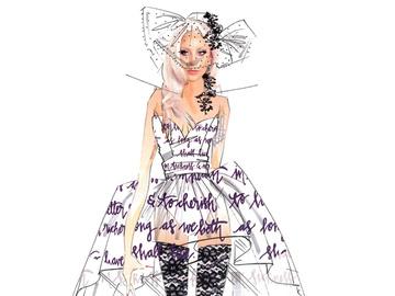 Эскизы свадебного платья Леди Гаги