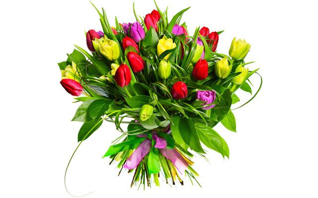 Яркие тюльпаны ко Дню Рождения