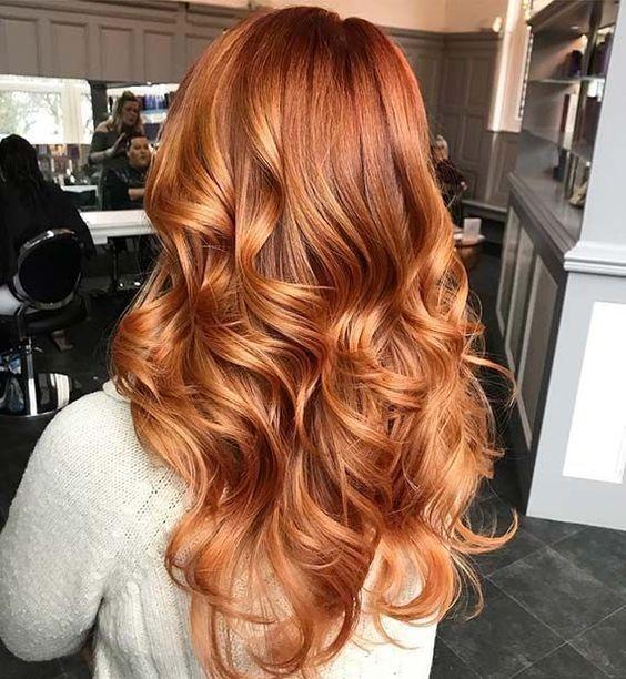Эффект выгоревших волос на рыжих локонах