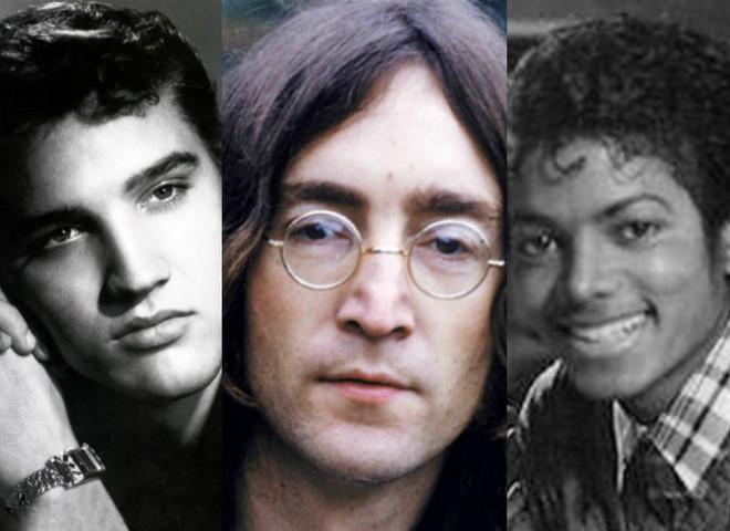 Елвіс Преслі, Джон Леннон, Майкл Джексон