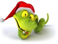Веселые открытки с Новым годом Змеи 2013