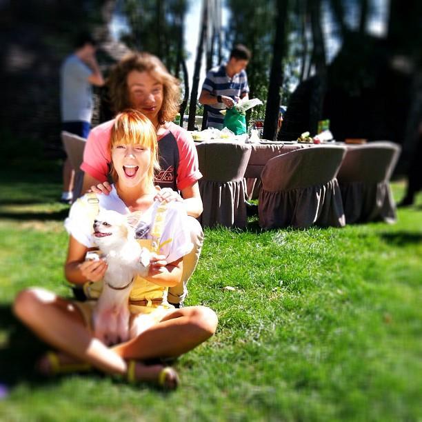 Тарабарова на пикнике