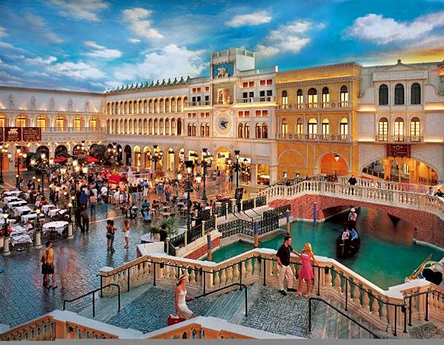 5 дивовижних шопінг-центрів світу: The Grand Canal Shoppes, Лас-Вегас, США