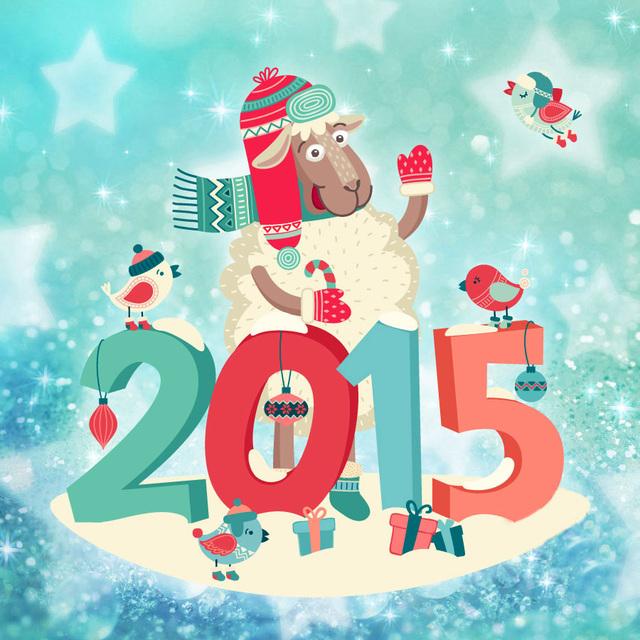 С Новым годом крутой овечки 2015