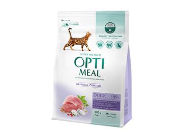 Сухой корм для кошек с эффектом выведения шерстиТМ Optimeal