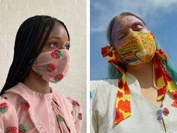 Модные защитные маски для лица