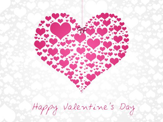 Нежная открытка на День Святого Валентина 2015