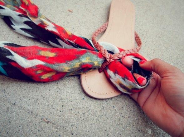 Модные сандали из обычных вьетнамок