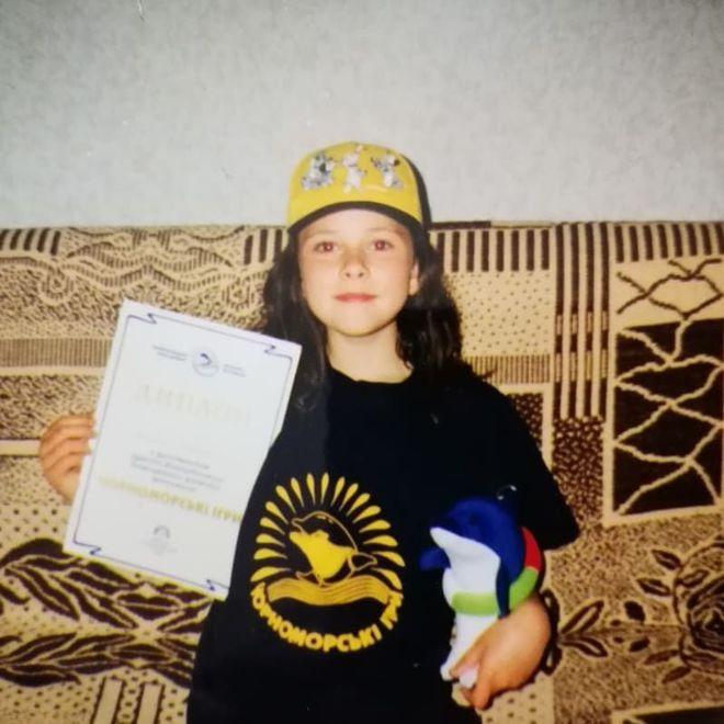 Юлия Санина в детстве
