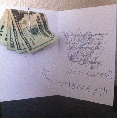 Да кого это волнует! Вот деньги!