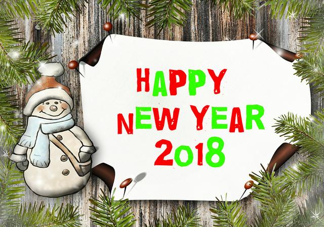 Милые открытки на Новый год 2018