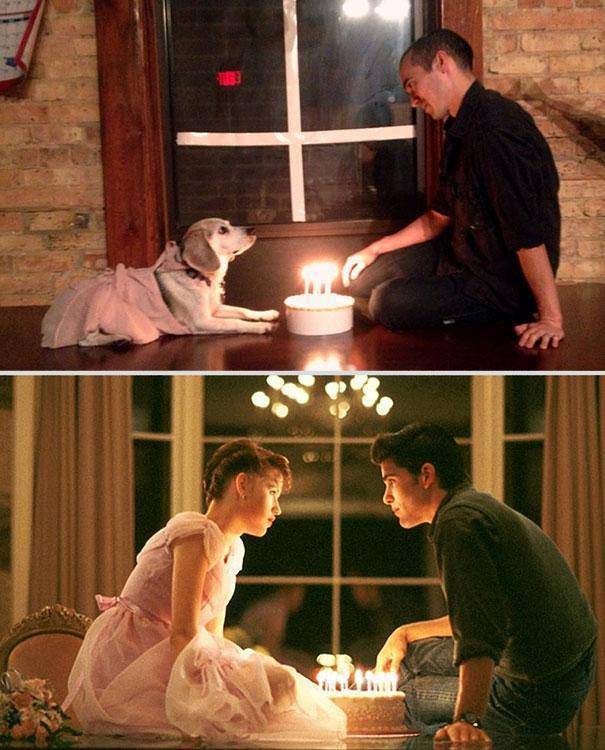 Серия романтичных сцен из известных фильмов