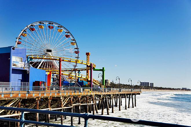 Кинотуризм: Пляж Санта Моника, Лос-Анджелес