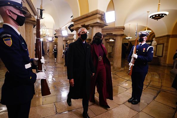 Мишель Обама на инаугурации Байдена